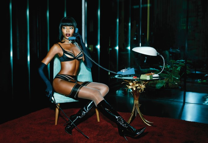 Naomi Campbell Gets Into Some S&M Action For Agent Provocateur Campaign (PHOTOS)