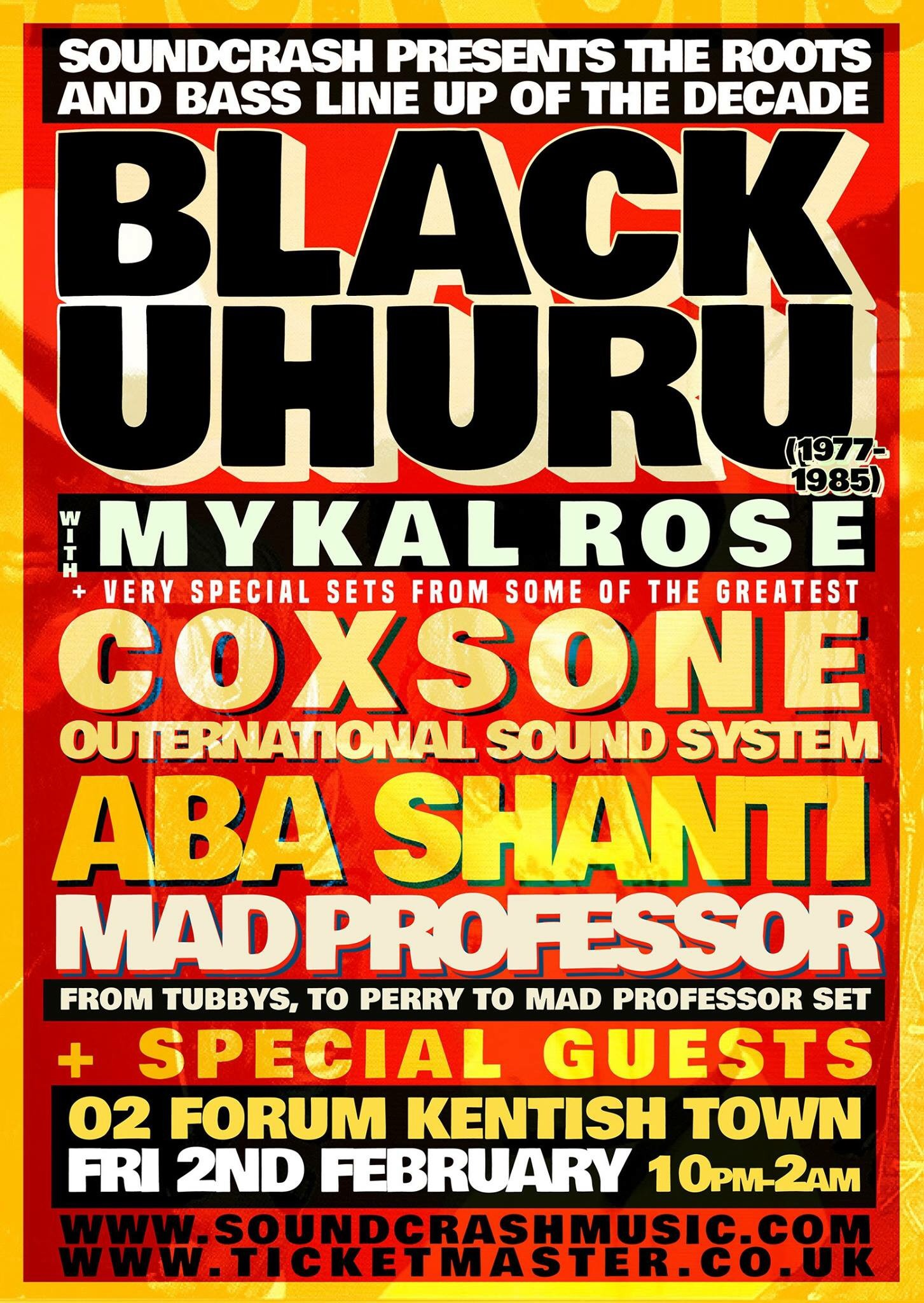 Black Uhuru performed by Mykal Rose + More